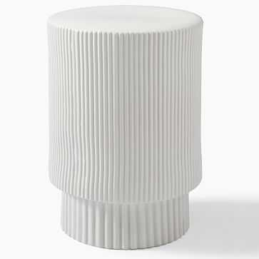 Textured Collection Large 16 Inch Side Table White - West Elm