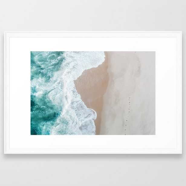 Ocean Mint Framed Art Print by Ingrid Beddoes Photography - Scoop White - LARGE (Gallery)-26x38 - Society6
