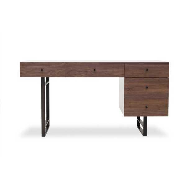 Four Hands Tucker Solid Wood Desk - Perigold
