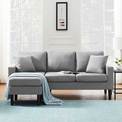 77.16'' Wide Reversible Sofa & Chaise with Ottoman - Wayfair