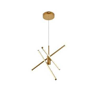 Hertford 3 - Light Sputnik Modern Linear LED Chandelier - Wayfair