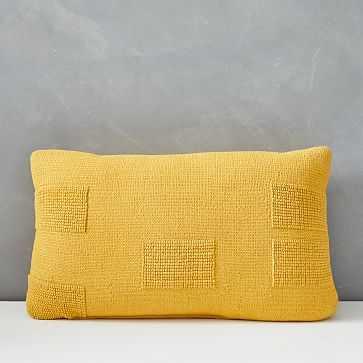 "Outdoor Tufted Pillow, 12""x21"", Dark Horseradish - West Elm"