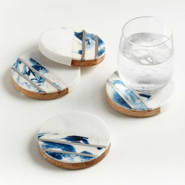 Sky Inlay Coasters, Set of 4 - Crate and Barrel