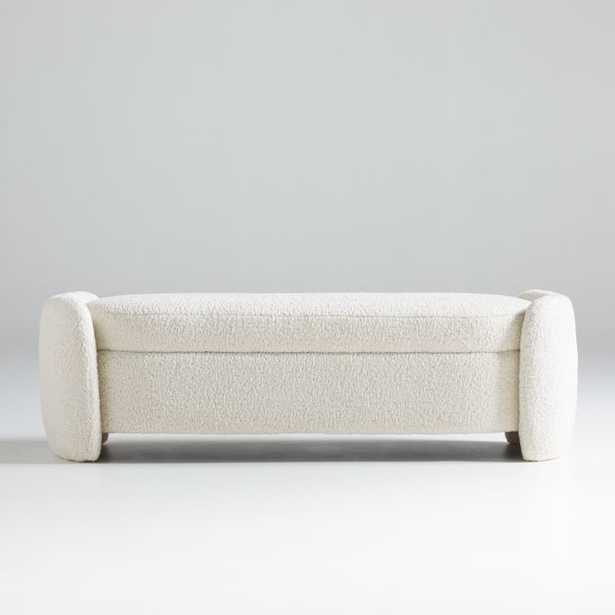 """Calder 60"""" Storage Bench RESTOCK early Jan 2022 - Crate and Barrel"""