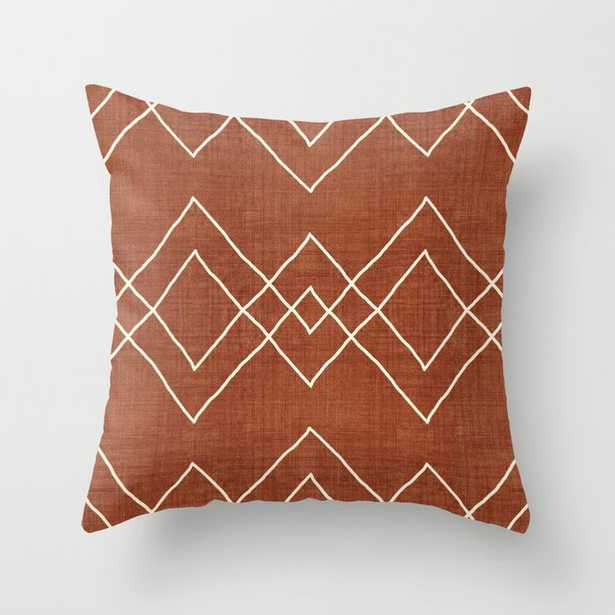 """Nudo In Rust Couch Throw Pillow by Becky Bailey - Cover (18"""" x 18"""") with pillow insert - Indoor Pillow - Society6"""