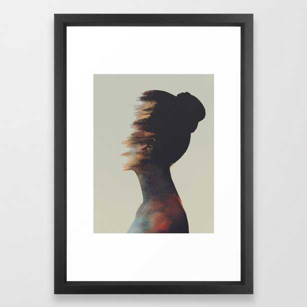 In Our Nature Framed Art Print by Andreas Lie - Vector Black - SMALL-15x21 - Society6