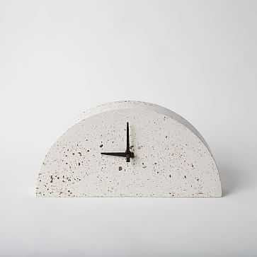 Mantle Clock Concrete Clock White Terrazzo - West Elm