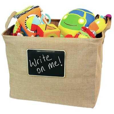 Jute/Burlap Fabric Basket - Wayfair