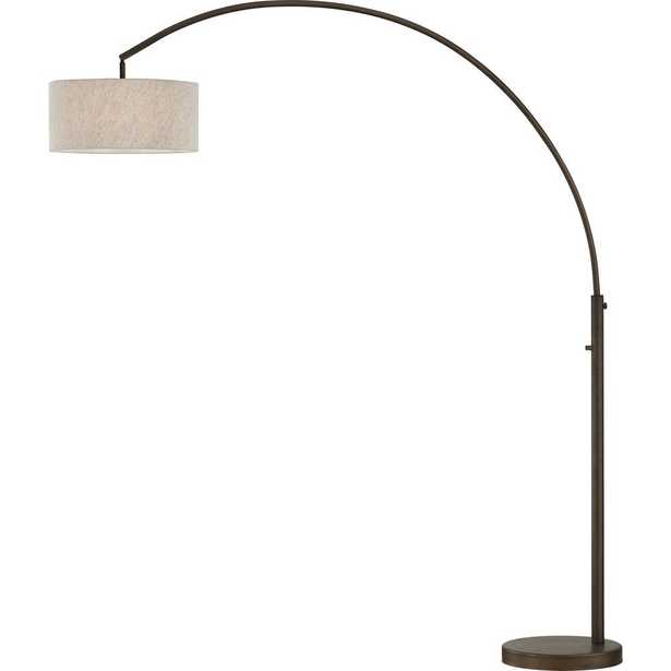 ARTIVA Elena 80 in. Antique Bronze LED Arch Floor Lamp with Dimmer - Home Depot