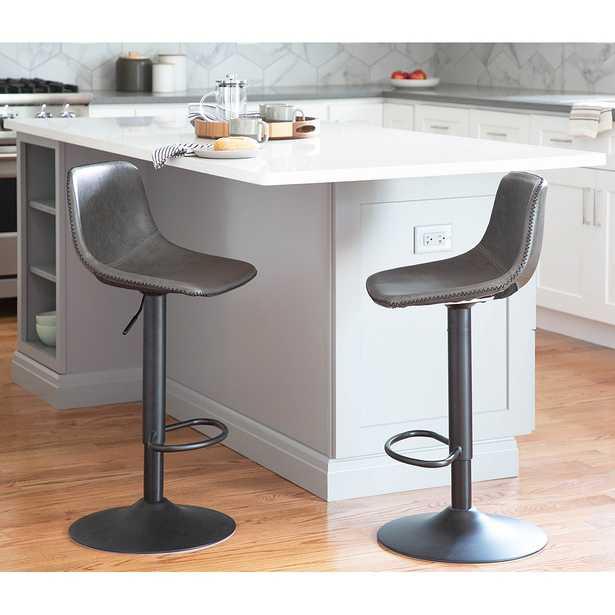 Duke Gray Adjustable Swivel Bar Stools Set of 2 - Style # 94T65 - Lamps Plus