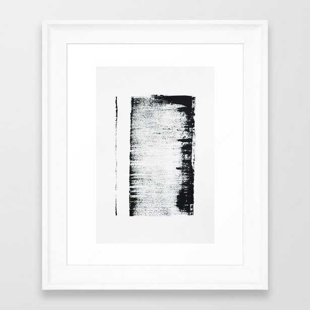 Black And White Minimal Abstract Framed Art Print by Ingrid Beddoes Photography - Scoop White - X-Small-10x12 - Society6