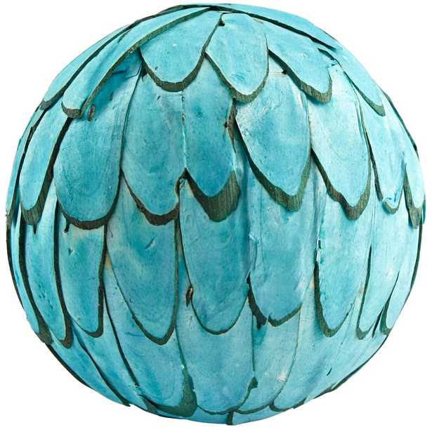 Decorative Fallon Filler Ball Color: Blue - Perigold