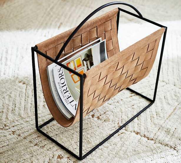 Suede Magazine Holder - Pottery Barn