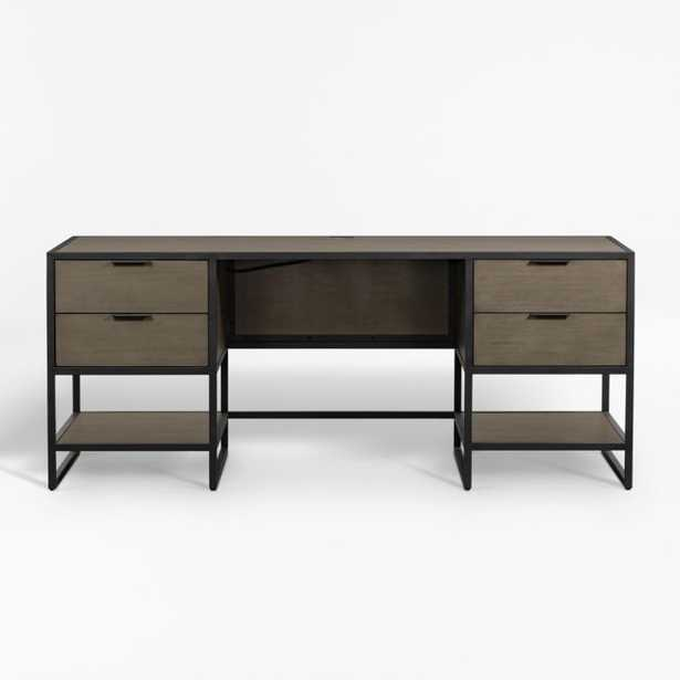 Oxford Shale Executive Desk with Power Outlet - Crate and Barrel