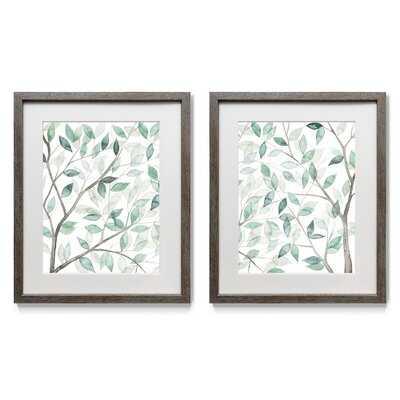 Leaf Lace I - 2 Piece Picture Frame Print Set on Paper - Wayfair