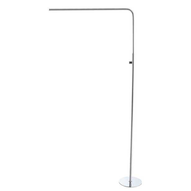 JONATHAN Y Natalie 63 in. Chrome Integrated LED Floor Lamp - Home Depot