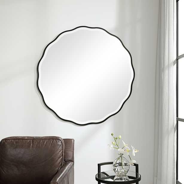 Aneta Black Round Mirror - Hudsonhill Foundry