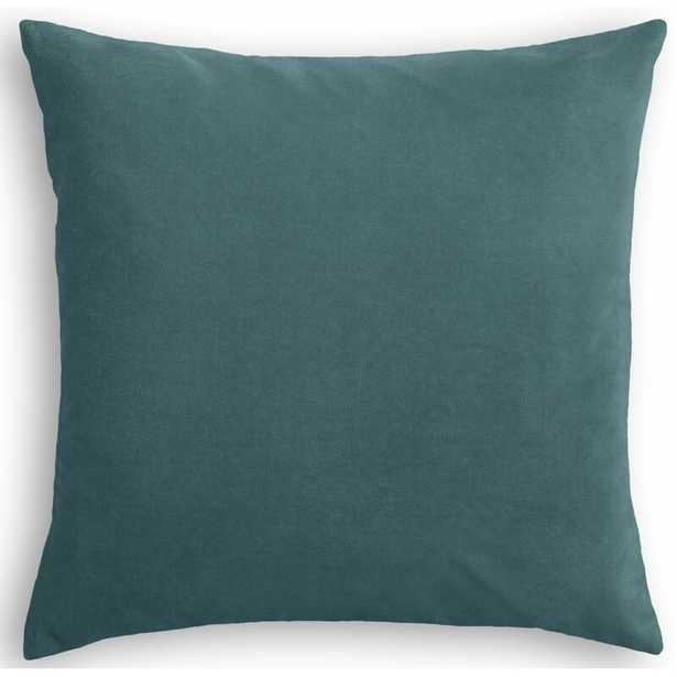 "Loom Decor Velvet Throw Pillow Color: Dark Teal, Size: 20"" x 20"" - Perigold"