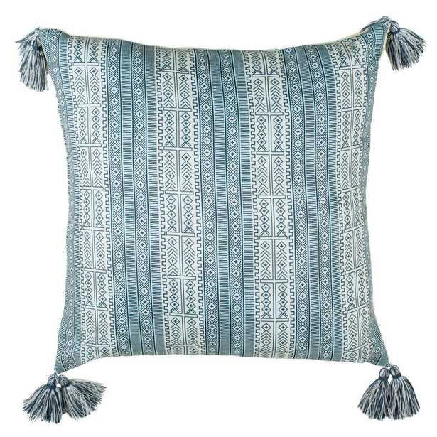 Safavieh Lunette White/Blue 16 in. x 16 in. Throw Pillow - Home Depot