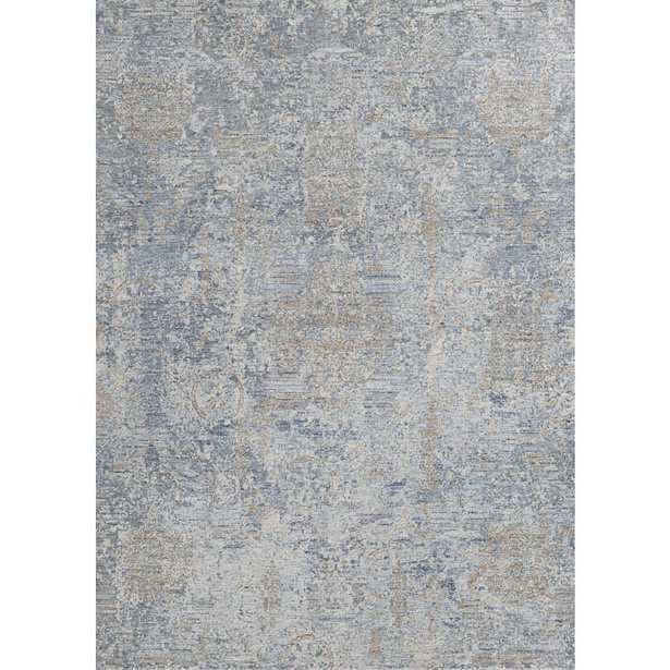 Couristan Couture Bordado Light Grey-Multicolor 8 ft. x 11 ft. Area Rug - Home Depot