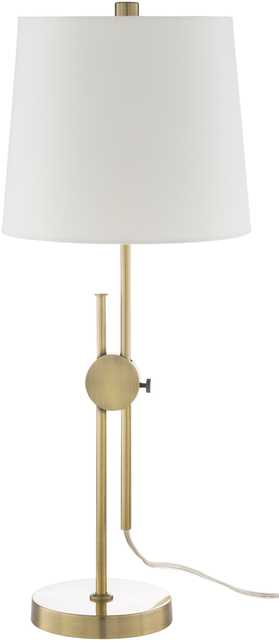 Jace Adjustable Table Lamp, Brass - Neva Home