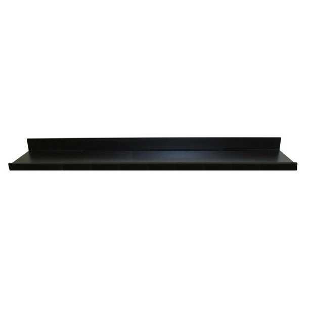 "MDF Picture Ledge Floating Wall Shelf, Black, 60"" - Home Depot"