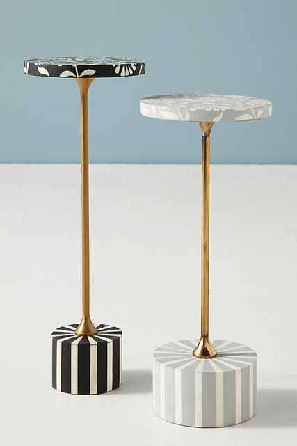 Lalita Inlay End Table By Anthropologie in Black - Anthropologie