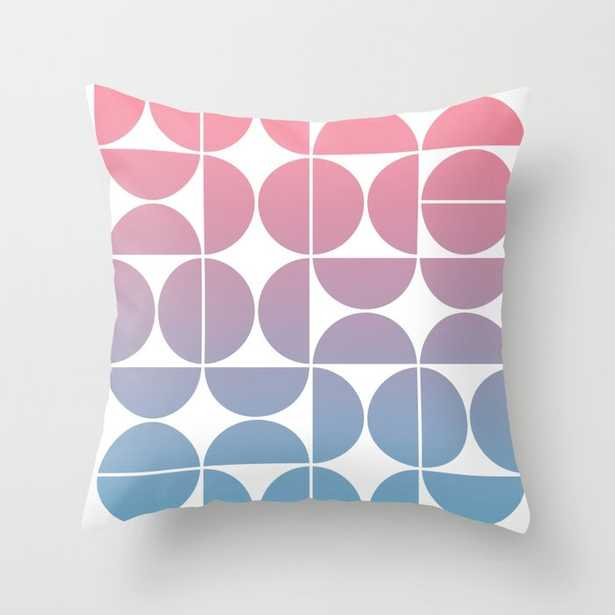 """Geometric Gradient 01 Couch Throw Pillow by The Old Art Studio - Cover (24"""" x 24"""") with pillow insert - Indoor Pillow - Society6"""