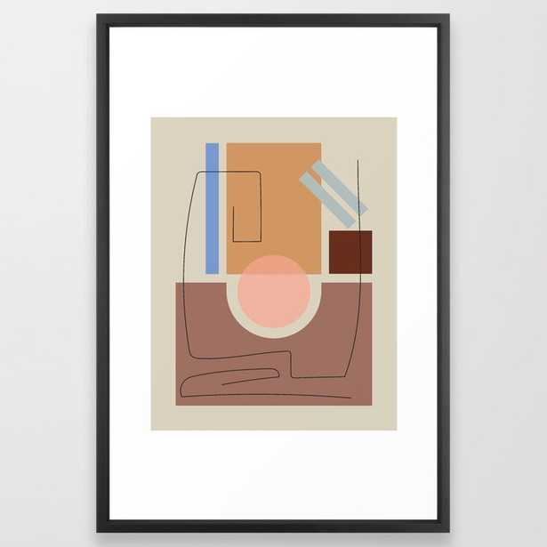 Shape Study #33 Framed Art Print by Mpgmb - Vector Black - LARGE (Gallery)-26x38 - Society6