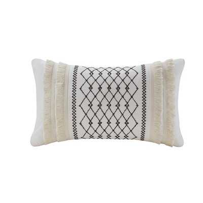 Kulick Embroidered Oblong Cotton Geometric Throw Pillow - AllModern