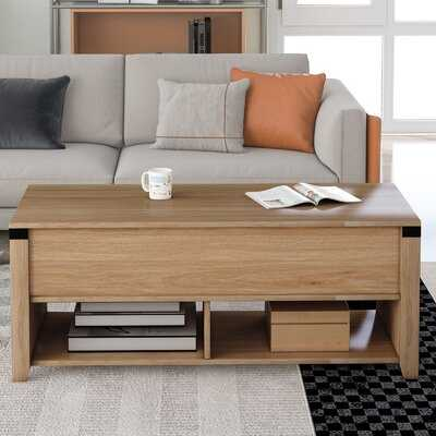 Multipurpose Coffee Table Lifting Top Table With Open Shelf - Wayfair