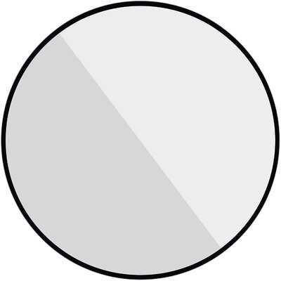 Black Round Mirror, 24 Inch Circle Mirror, Metal Frame Bathroom Mirror, Large Wall Mounted Mirror For Living Room, Vanity Room, Entryway, Hallway. - Wayfair