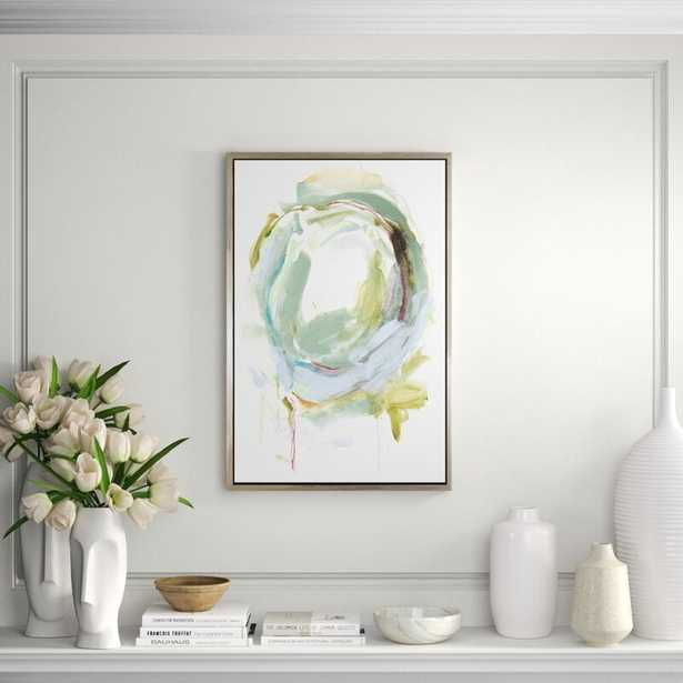 CHC Art, Inc. 'Circular Conclusions I' - Floater Frame Painting Print on Canvas - Perigold