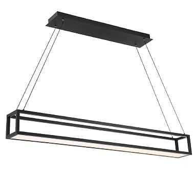"""Mic LED Pendant, Black, 47"""" - Pottery Barn"""
