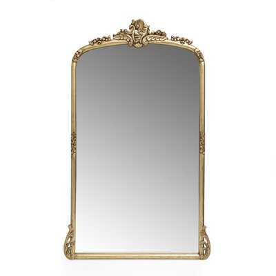 Wilsey Wood Framed Wall Mounted Overmantel Mirror in Antique Gold AVAIL 11/2 - Wayfair