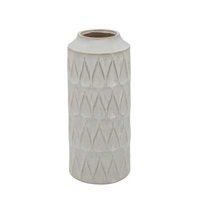 Mcfall White Ceramic Table Vase - Wayfair