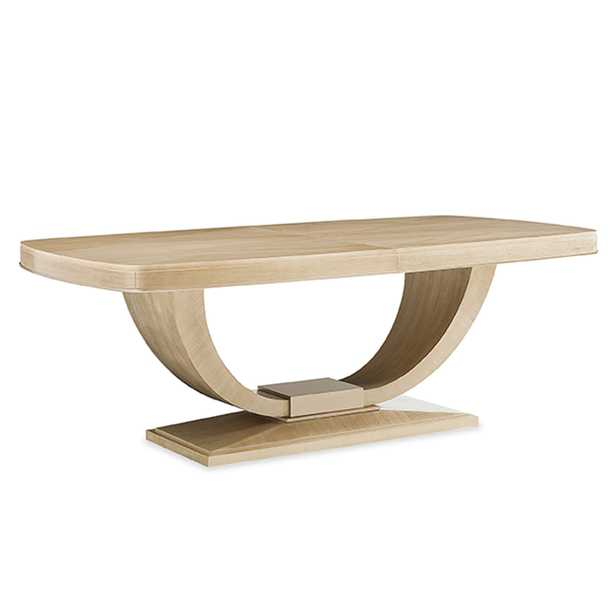 Levi Modern Classic Brown Wood Extendable Dining Table - Kathy Kuo Home