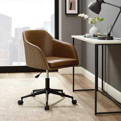 Tyler Quilted Upholstered Barrel Swivel Task Chair - Wayfair