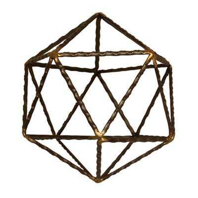 Home Decorative Abstract Metal Table Decor - Brown - Small - Wayfair