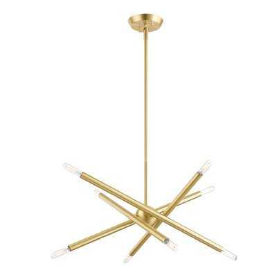 Edensor 8 - Light Sputnik Modern Linear Chandelier - AllModern