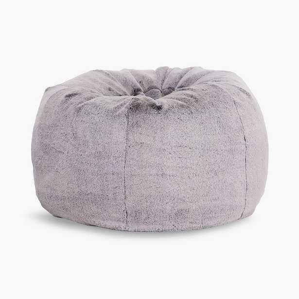 Chinchilla Faux-Fur Gray Bean Bag Chair Slipcover + Insert, Large - Pottery Barn Teen