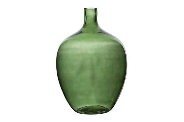 Vintage Reproduction Transparent Green Glass Bottle - Nomad Home