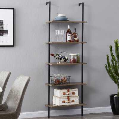 """Glastbury 71.9"""" H x 23.6"""" W 5 Ladder Bookcase - Wayfair"""