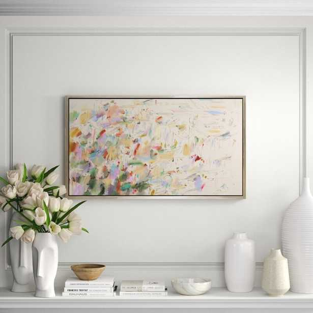 CHC Art, Inc. 'Blooms' - Floater Frame Painting Print on Canvas - Perigold