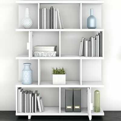 "Madison Avenue 62.99"" H x 47.16"" W Geometric Bookcase - Wayfair"