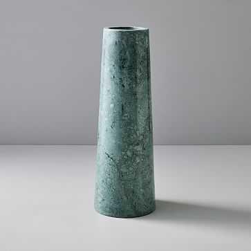 Pure Foundation Marble Vase, Green, Large - West Elm