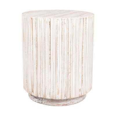 Karle Solid Wood Drum End Table - Wayfair
