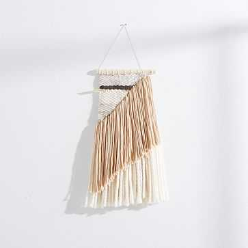 Sun Woven Wall Hanging, Small, Nude/Ivory/Charcoal/Gray - West Elm