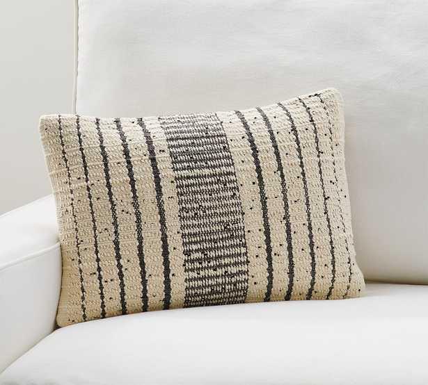 "Dismon Textured Lumbar Pillow Cover, 14 x 20"", Neutral Multi - Pottery Barn"