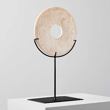 Marble Disc on Stand, Large - West Elm